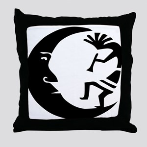 Kokopelli & Moon Throw Pillow
