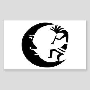 Kokopelli & Moon Rectangle Sticker