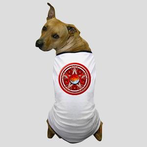 Red Triple Goddes Pentacle Dog T-Shirt