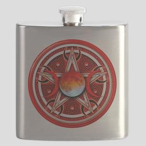 Red Triple Goddes Pentacle Flask