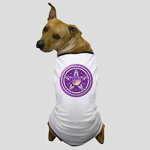 Purple Triple Goddess Pentacle Dog T-Shirt