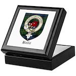 Baillie Clan Crest Tartan Keepsake Box