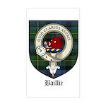 Baillie Clan Crest Tartan Rectangle Sticker