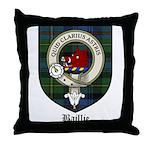 Baillie Clan Crest Tartan Throw Pillow