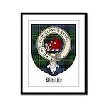 Baillie Clan Crest Tartan Framed Panel Print