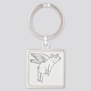littlepig Square Keychain