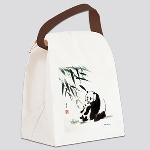 Mom and Child_Panda Canvas Lunch Bag