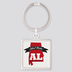 Sweet Home-2 Square Keychain