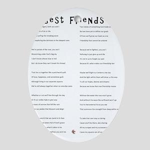 BestFriends-TX Oval Ornament