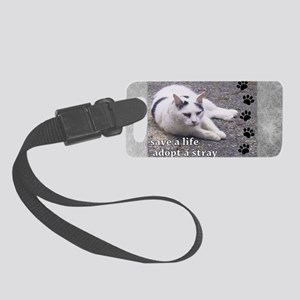 Adopt a Stray Small Luggage Tag