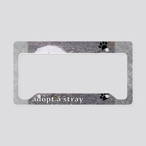 Adopt a Stray License Plate Holder