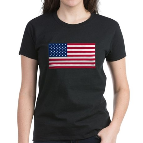 United States Flag Women's Dark T-Shirt