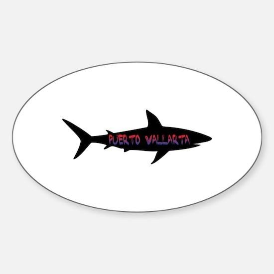 Puerto Vallarta Shark Decal