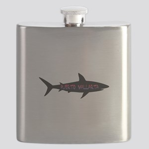 Puerto Vallarta Shark Flask