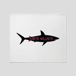 Puerto Vallarta Shark Throw Blanket