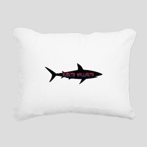 Puerto Vallarta Shark Rectangular Canvas Pillow