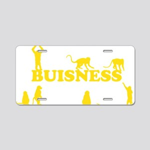 monkeybuisnessyellow Aluminum License Plate