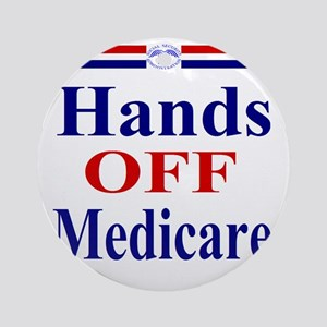 Hands OFF Medicare T-Shirt rwb Tshi Round Ornament
