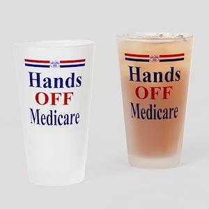 Hands OFF Medicare T-Shirt rwb Tshi Drinking Glass