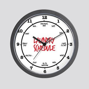 Laundry Schedule Wall Clock
