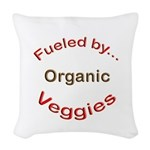 Fueled by Organic Woven Throw Pillow