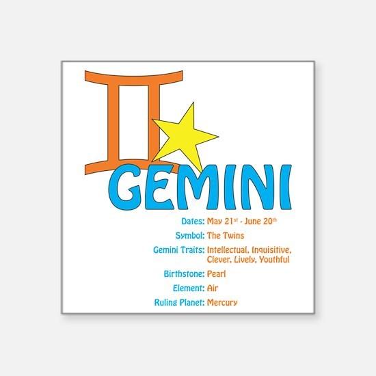 "geminidetail2 Square Sticker 3"" x 3"""