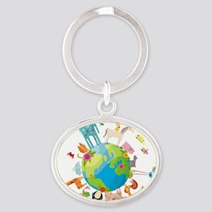 Animal Planet Oval Keychain