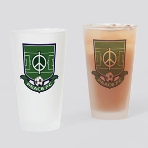 Peace FC Badge Logo2 Drinking Glass
