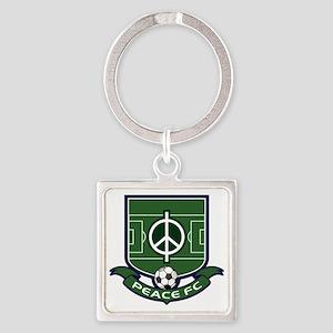 Peace FC Badge Logo2 Square Keychain