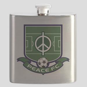 Peace FC Badge Logo2 Flask