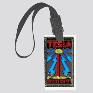 TESLA_COIL-5x8_journal Large Luggage Tag