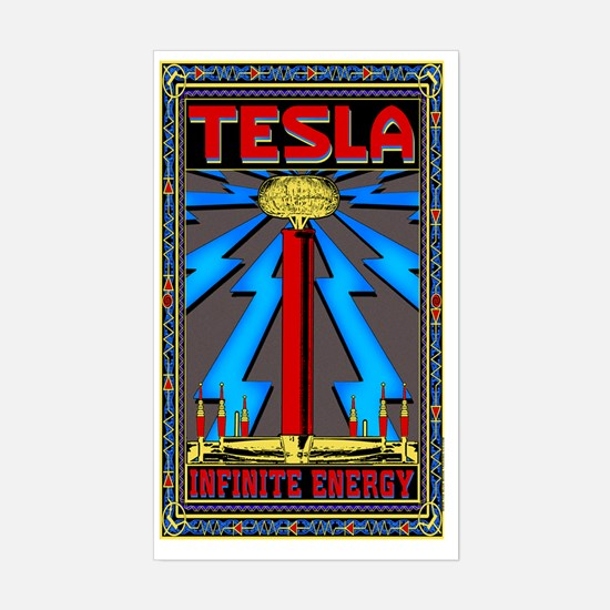 TESLA_COIL-5x8_journal Sticker (Rectangle)