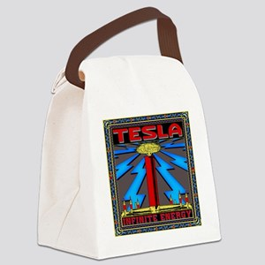 TESLA_COIL-11x11_pillow Canvas Lunch Bag