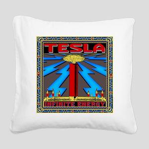 TESLA_COIL-11x11_pillow Square Canvas Pillow