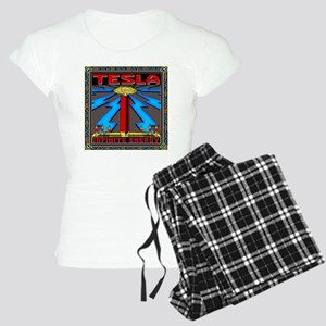 TESLA_COIL-11x11_pillow Women's Light Pajamas