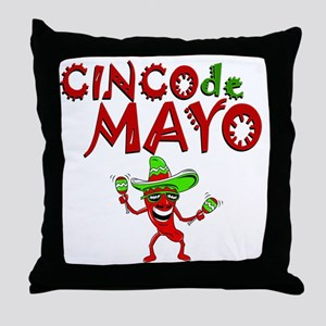 cinco de mayo 1 pepper Throw Pillow