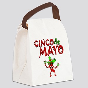 cinco de mayo 1 pepper Canvas Lunch Bag