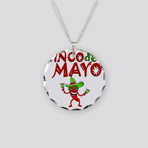 cinco de mayo 1 pepper Necklace Circle Charm