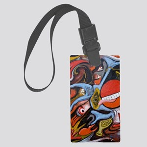 commander pill Large Luggage Tag