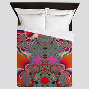 Abstract Art Red Meditation Queen Duvet