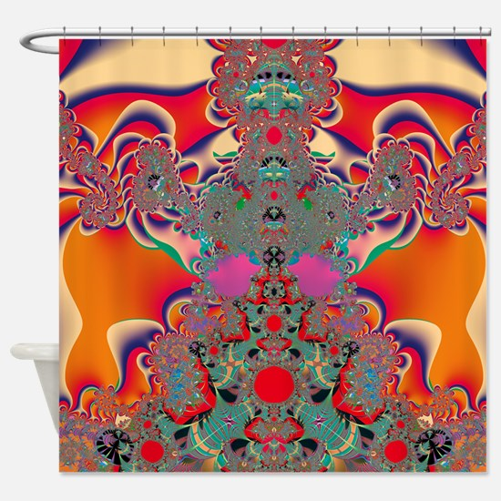 Abstract Art Red Meditation Shower Curtain