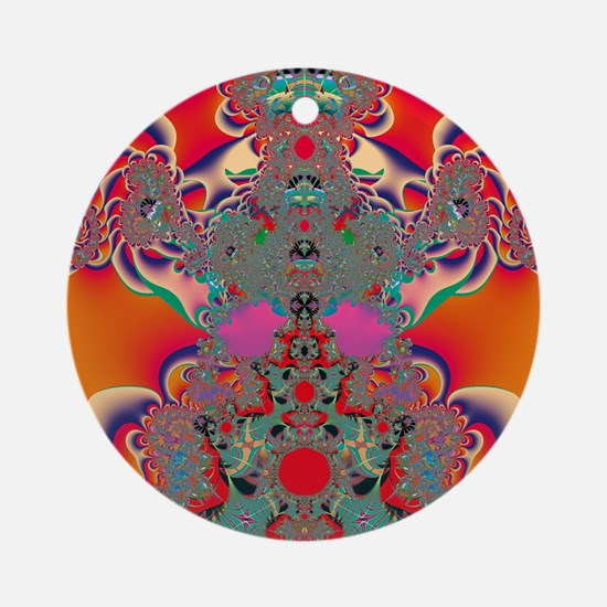 Abstract Art Red Meditation Ornament (Round)