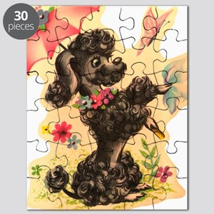 Vintage Poodle Illustration Puzzle