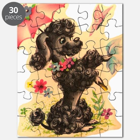 Vintage Poodle Illustration Puzzle