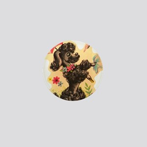 Vintage Poodle Illustration Mini Button