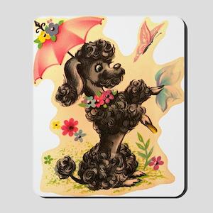 Vintage Poodle Illustration Mousepad