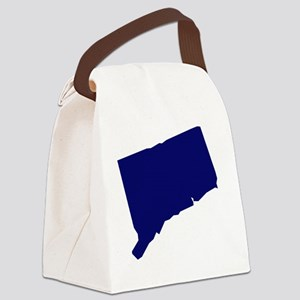 Connecticut - Blue Canvas Lunch Bag