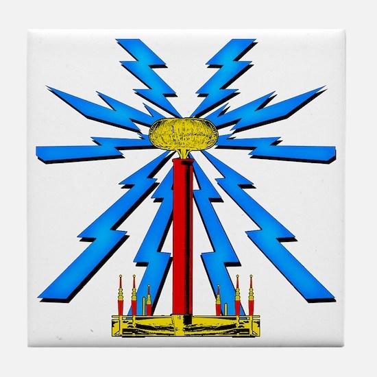 TESLA_COIL_wcp Tile Coaster