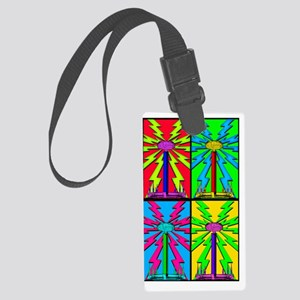 TESLA_COIL_HOL_5x8_journal Large Luggage Tag