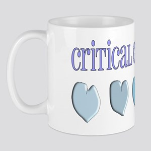 Critical Care Nurse Blue Mug